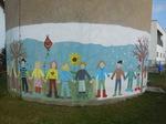 Graffitientfernung am Wasserturm der Gemeinde Kist